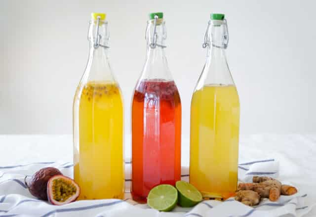 This is the sort of kombucha most people are familiar with - fruity, fizzy and not coffee kombucha.