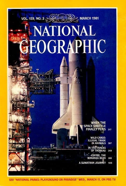 National Geographic Magazine, March 1981 issue featuring one of the first western culture articles on Kopi Luwak: Coffee, The Bonanza Bean, by Ethel A. Starbird